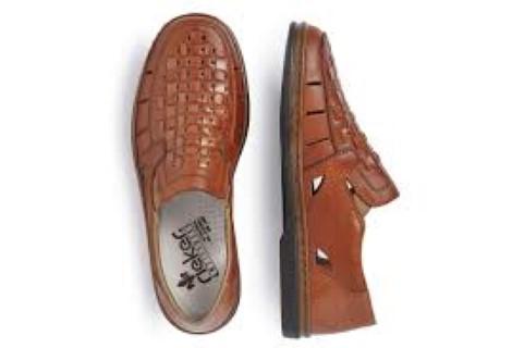 db9caad7 Rieker 12389-24 Gents Brown Slip on Sandal