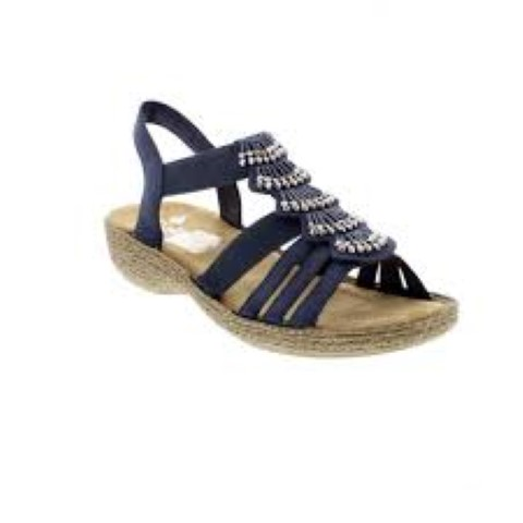 rieker-ladies-blue-sandal-65869-14-limeshoe co-berwick upon tweed