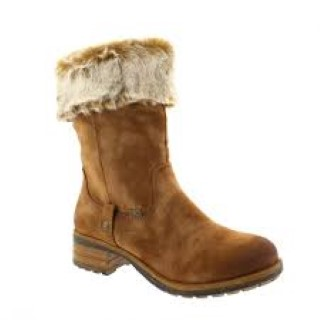 Berwick upon Tweed-Lime Shoe Co-Reiker-Brown-Boot-Block Heel-Water Resistant-Size Zip-Fur