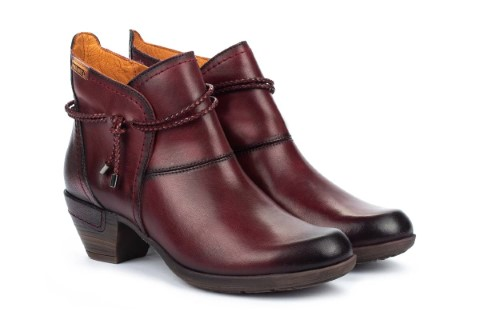 Berwick upon Tweed-Lime Shoe Co-Pikolinos-Garnet-Leather-winter-Autumn-block Heel-side zip