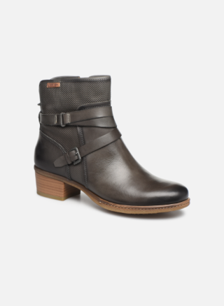 Berwick upon Tweed-Lime Shoe co-Pikolinos-Grey-Ankle Boot-Zip-block heel-winter-leather