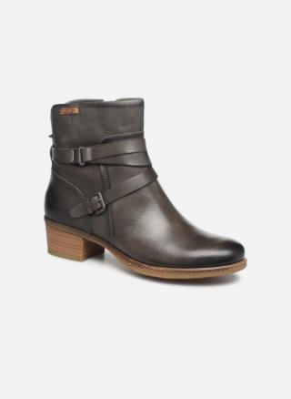 Berwick upon Tweed-Lime Shoe co-Pikolinos-Grey-Ankle Boot-Zip-block heel-winter-leather
