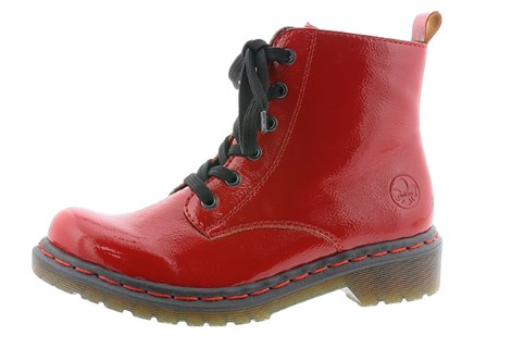Berwick upon Tweed-Lime Shoe Co-Rieker-Red-Boot-Lace up-Pull tab-inner zip-winter