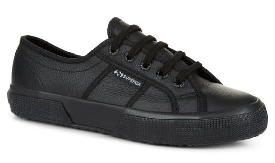 Berwick upon Tweed-Lime shoe co-Superga-black-laces-leather