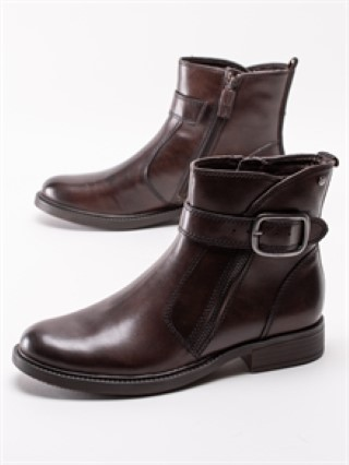 Berwick upon Tweed-Lime Shoe co-Tamaris-Zip-Buckle-Mocca Brown-winter