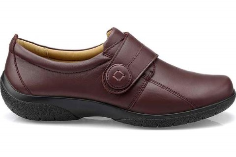 Berwick upon Tweed-Lime Shoe Co-Hotter-Maroon-velcro-Autumn-winter