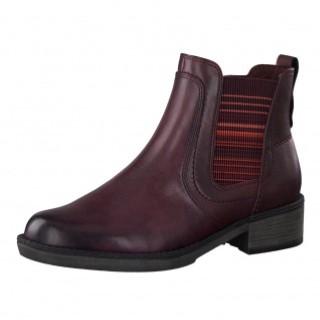 Berwick upon Tweed-Lime shoe co-Tamaris-Maroon-chelsea boot-pull on-winter