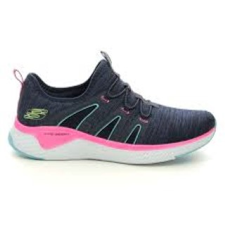 Berwick upon Tweed-Lime Shoe Co-Skechers-Trainers-Navy-Pink-Memory Foam-Mesh