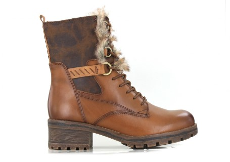 Lime Shoe Co-Berwick upon Tweed-Tamaris-Woman's-Ankle Boot-Winter 19-Block Heel-Brown-Side Zip-Comfortable-Stylish