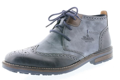 Lime Shoe co-Berwick upon Tweed-Rieker-Mens-Ankle Boot-Winter 19-Lace Up-Comfort-Blue