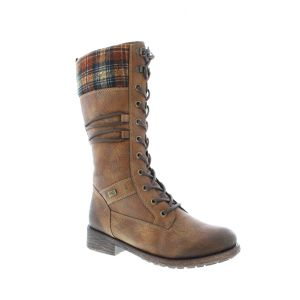 Berwick upon Tweed-Lime Shoe Co-Remonte-winter-mid calf boots-tartan-wool lined-laces-side zip