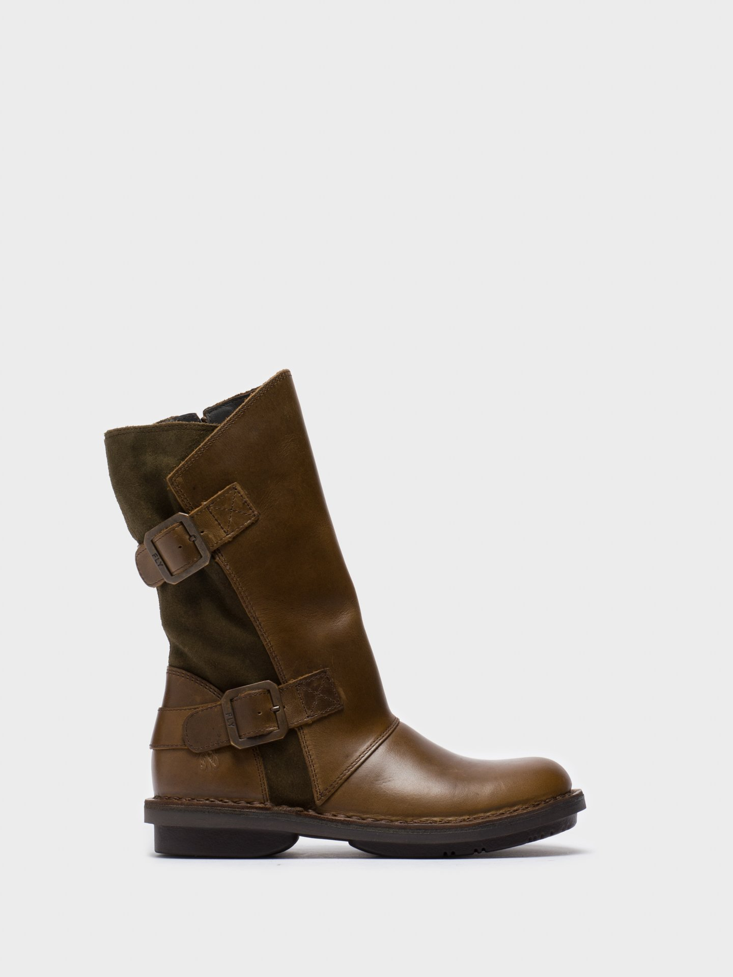 Berwick upon Tweed-Lime Shoe Co-Fly London-Ladies Mid Calf Boot-winter-buckle-zip
