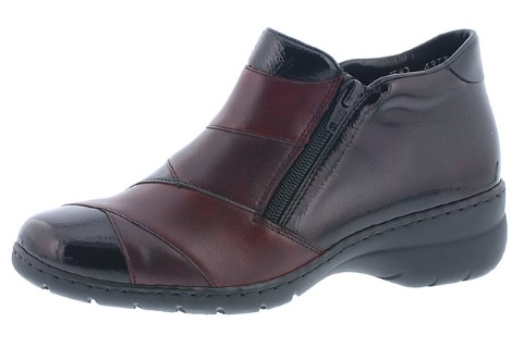 Berwick upon Tweed-Lime Shoe Co-Rieker-Wine Red-side zips-winter