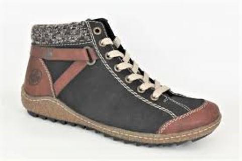 Berwick upon Tweed-Lime Shoe Co-Rieker-Ladies-Ankle Boot-Winter-Laces-Side Zip
