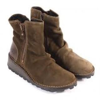 Lime Shoe co-Berwickupon Tweed-Boot-Fly London-Olive-Wedge-Winter