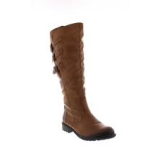 Lime Shoe Co-Berwick upon Tweed-Ladies-Remonte-Winter19-Knee Boot-Brown-Leather-Side Zip-Flat-Comfortable