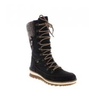 Berwick upon Tweed-Lime Shoe Co-Remonte-Black-fur-wool lining-mid calf-boot-winter-cosy