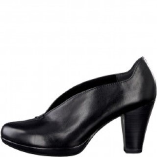 Berwick upon Tweed-Lime Shoe Co-Marco Tozzi-Black-Slip on-Court shoe-heel-Autumn-workwear