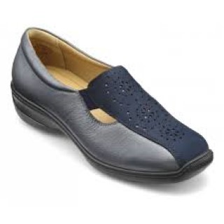 Lime Shoe Co-Berwick upon Tweed-Hotter-Winter 19-Navy-Slip On-Flat-Comfort-Padded