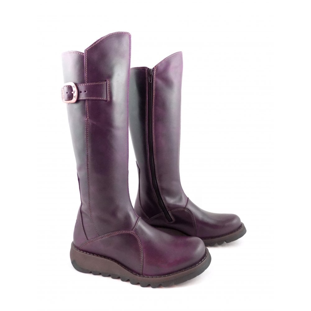 Lime Shoe-Berwick-upon-Tweed-fly-london-mol-2-long-boot-buckle-Winter-Flat-Comfort-Leather
