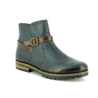 Berwick upon Tweed-Lime Shoe Co-Remonte-Green-Ankle Boot-Winter-Leather-Ladies