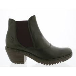 Berwick upon Tweed-Lime Shoe Co-Fly London-Ladies-Green-Ankle Boot-Winter