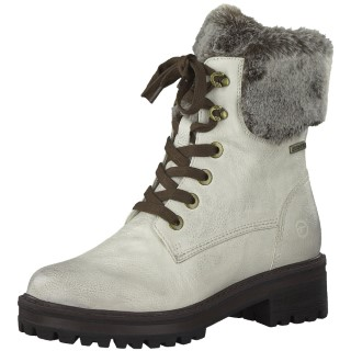 Berwick upon Tweed-Lime Shoe Co-Tamaris-Ladies-ankle boot-cream-faux fur-cosy-winter