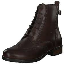 Berwick upon Tweed-Lime Shoe Co-Tamaris-Ladies-Brown Boot-block heel-Laces-zip-winter