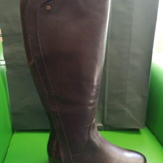 Berwick upon Tweed-Lime Shoe Co-Tamaris-Brown-Block Heel-side zip-winter-ladies-knee high boot