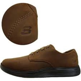 Lime Shoe Co-Berwick upon Tweed-Skecher-Brown-Mens-Winter 19-Shoe-Lace Up-Memory Foam