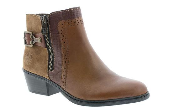Berwick upon Tweed-Lime Shoe Co-Rieker-Ladies-Winter-Ankle Boots-side zip-block heel
