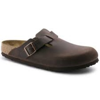 Lime Shoe Co-Berwick upon Tweed-Birkenstock-Boston-Habana-Oiled Leather-Flat-Clog-Buckle