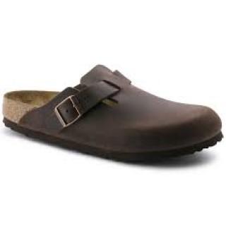 Lime Shoe Co-Berwick upon Tweed-Birkenstock-Boston-Habana-Oiled Leather-Flat-Clog-Buckle