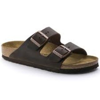 Lime Shoe Co-Berwick upon Tweed-Birkenstock's-Arizona-Habana-Oiled Leather-Flat-Summer-Flip Flop-Buckle