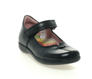 Berwick upon Tweed-Lime Shoe Co-Petasil-Girls-Black-School Shoe