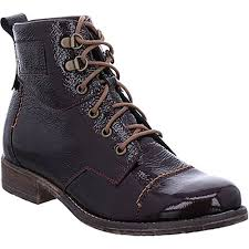 Berwick upon Tweed-Lime Shoe Co-Josef Seibel-Ankle boot-oxblood-patent-ladies-winter-lace up