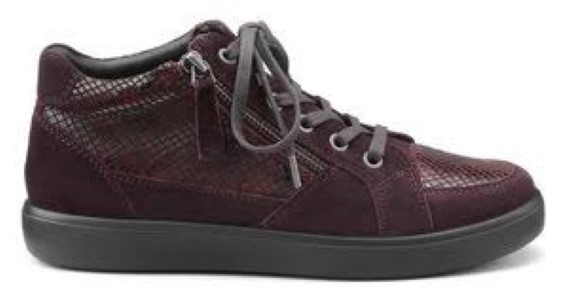 Berwick upon Tweed-Lime Shoe Co-Hotter-Plum-Casual-Ankle Boot-winter-laces-side zip