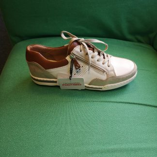 Berwick upon Tweed- Lime Shoe Co-Tamaris-Trainers-White-Gold-Tan-Laces-Side Zip-Spring-Summer