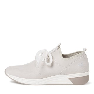 Lime Shoe Co.-Berwick upon Tweed-Marco Tozzi-Vegan-Trainer-Flat-Grey-Comfort-Lace-Slip On