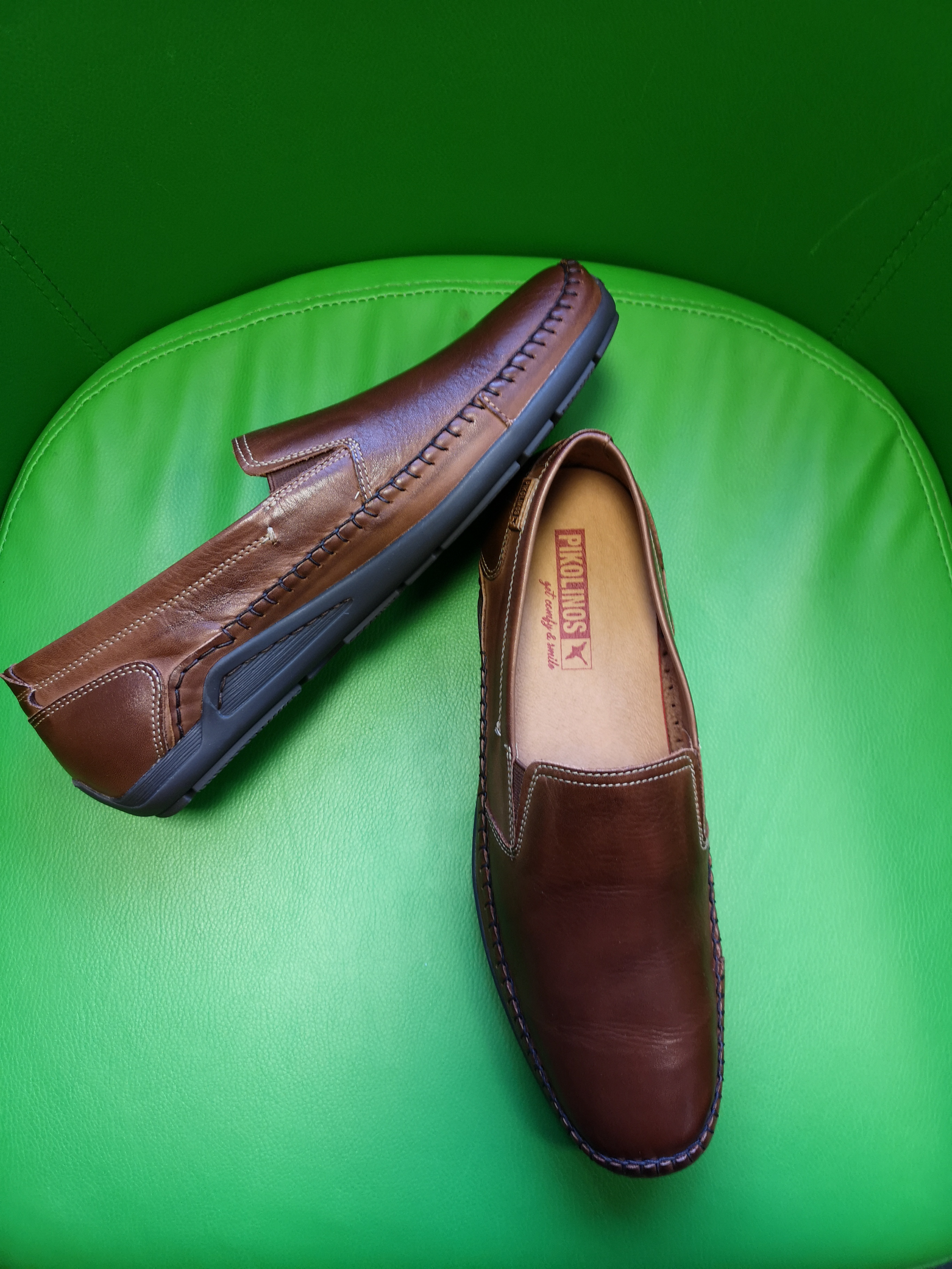 Bewick upon Tweed-Lime Shoe Co-Pikolinos-Tan-Gents-slip on-shoes-elastic sides-summer-spring