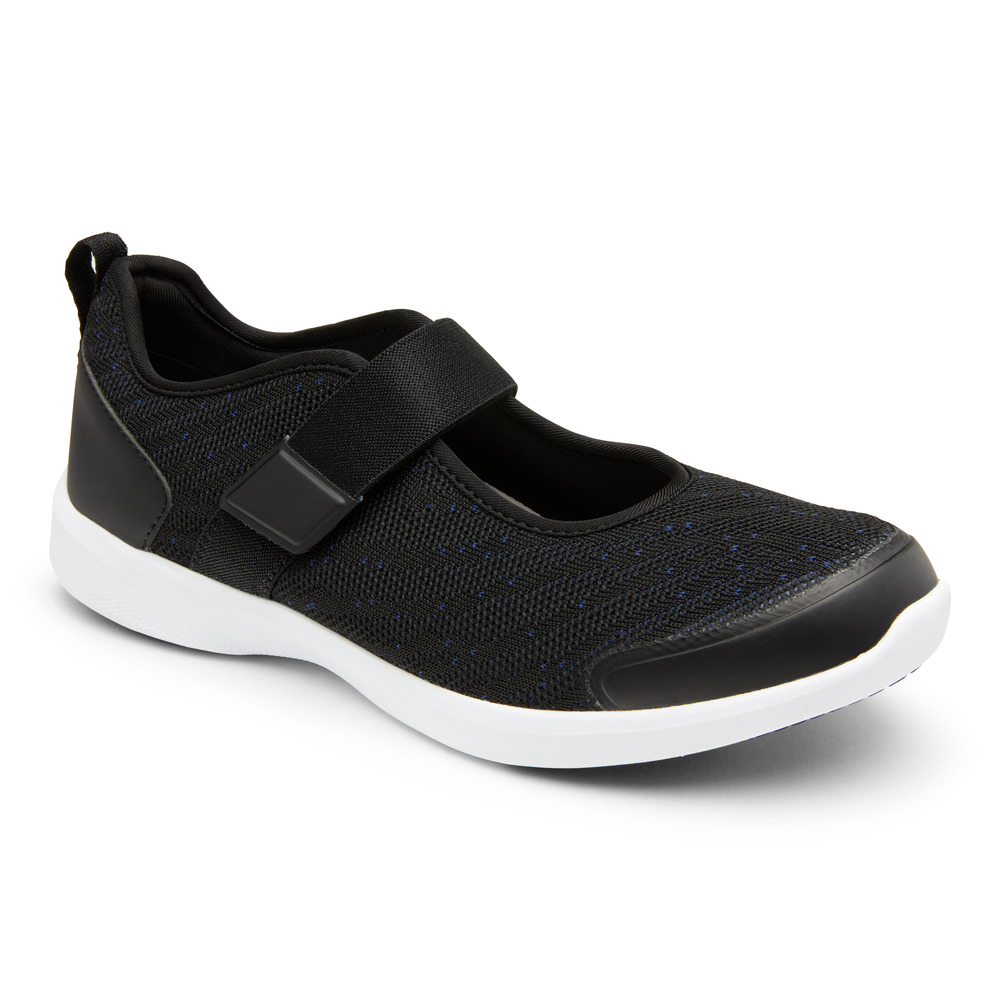 Berwick upon Tweed-Lime Shoe Co-Vionic-Black-Mary Jane-trainer-spring/summer-elastic strap-velcro