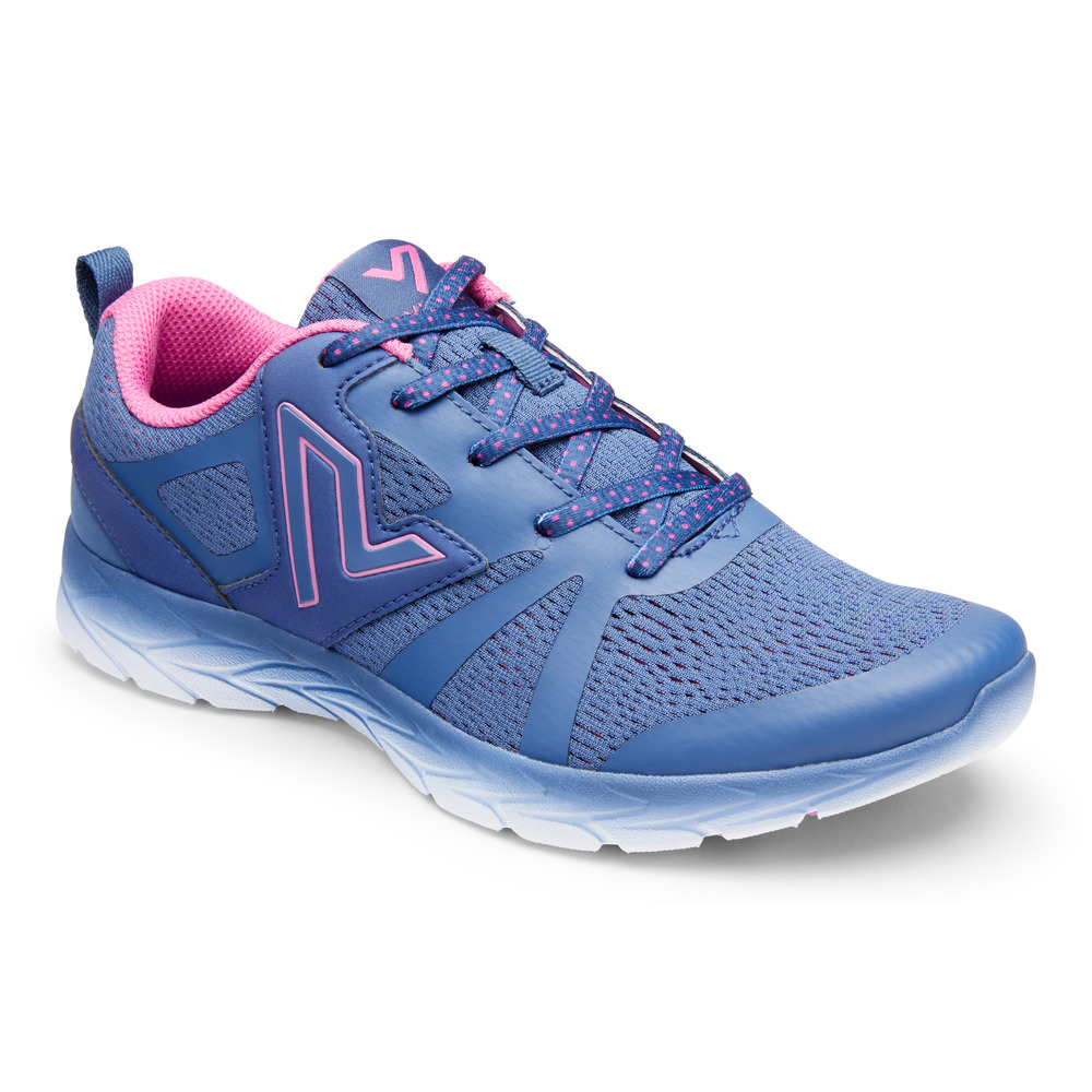Berwick upon Tweed-Lime Shoe Co-Vionic-Indigo-laces-trainers