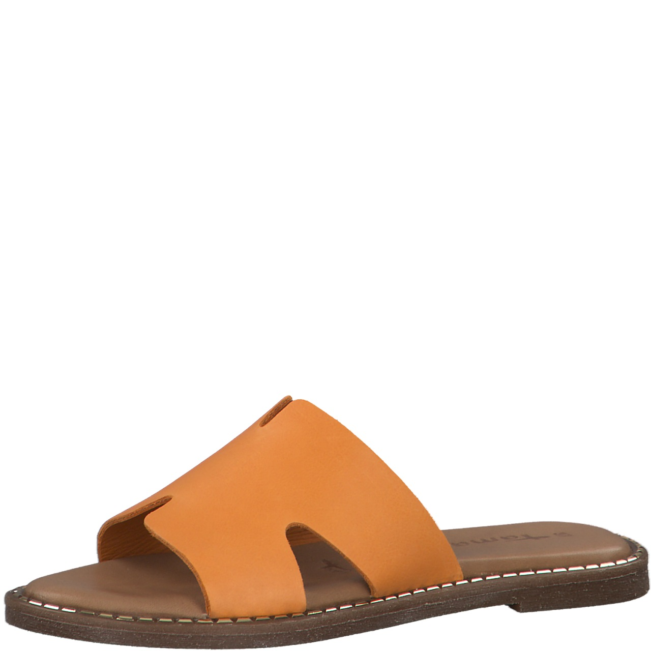 Berwick upon Tweed-Lime Shoe Co-Tamaris-Sandal-Orange-mule-slip on-summer