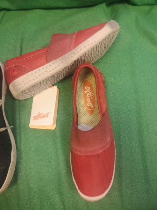Berwick upon Tweed-Lime Shoe Co-Softinos-Red-slip on-trainer-pumps-summer-spring-leather