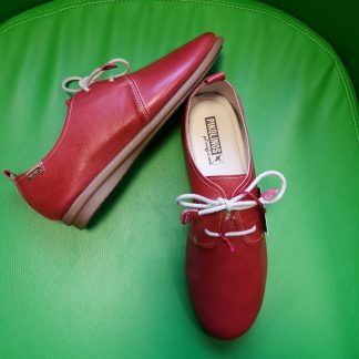 Berwick upon Tweed-Lime Shoe Co-Pikolinos-Red-Lace up-Shoe-Leather-Spring-summer