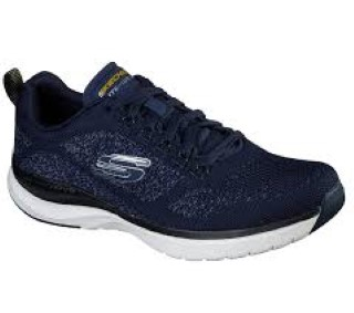Lime Shoe Co-Berwick upon Tweed-Skechers-Navy-Memory Foam-Gents-Trainer-Comfort-Spring-Summer-2020