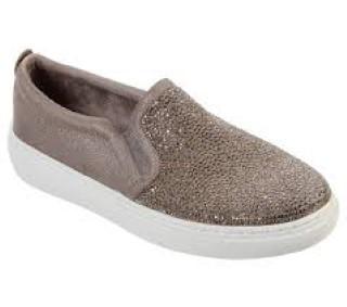 Lime Shoe Co-Berwick upon Tweed-Skechers-Loafer-Spring-Summer-Ladies-2020-Diamante-Memory Foam-Flat-Comfort