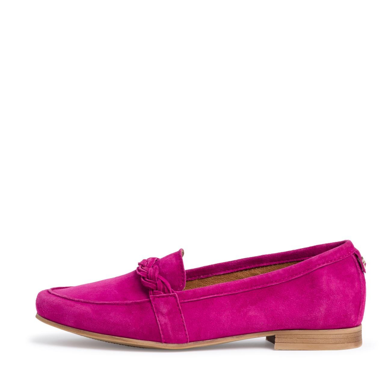 Berwick upon Tweed-Lime Shoe Co-Tamaris-Loafer-Pink-Spring Summer-Suede