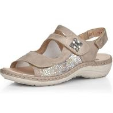 Berwick upon Tweed-Lime Shoe Co-Remonte-Metallic-Sandal-velcro straps-summer