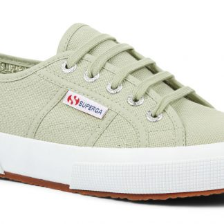 Berwick upon Tweed-Lime Shoe Co-Superga-Sage Green-Trainer-laces-summer